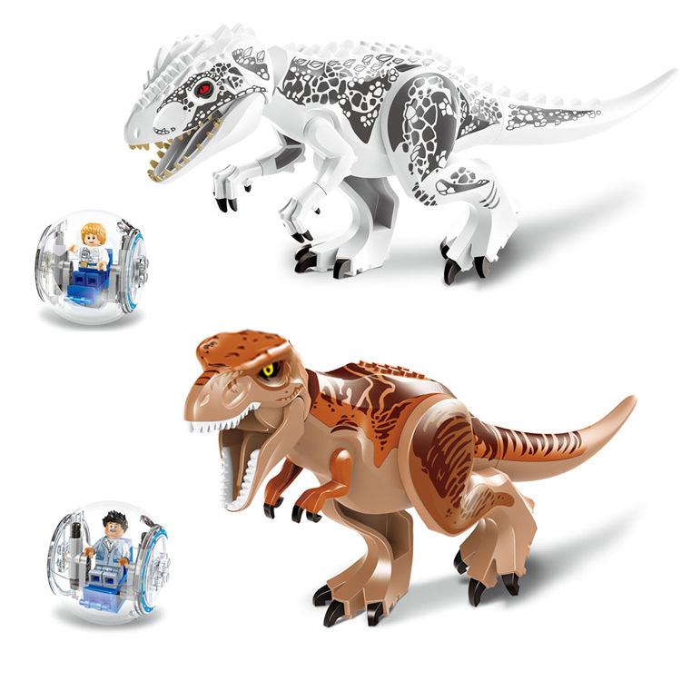 ตัวต่อ Jurassic World T-Rex and Indominus Rex แพคคู่ 2 ตัว