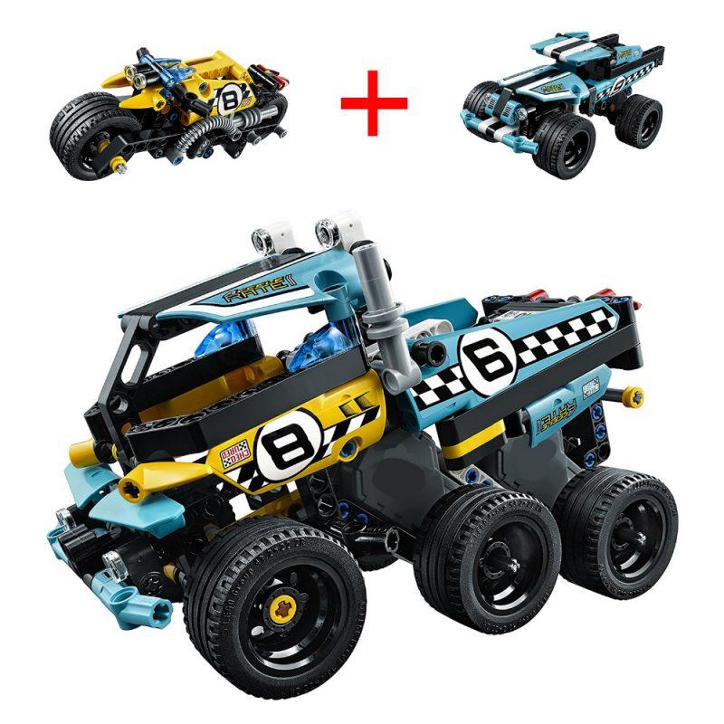 LEGO Decool Technic Stunt Motor เลโก้รถสตั้น 2 แบบรวมร่างกันได้