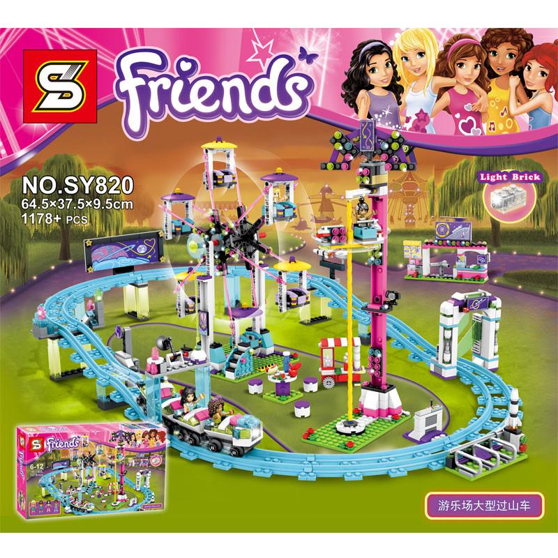 เลโก้เฟรนด์สวนสนุกรถไฟเหาะ Lego Friends Amusement Park Roller Coaster