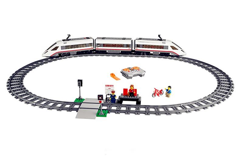 เลโก้ซิตตี้ชุดรถไฟด่วน LEGO City High speed Passenger Train บังคับรีโมทพร้อมชุดราง