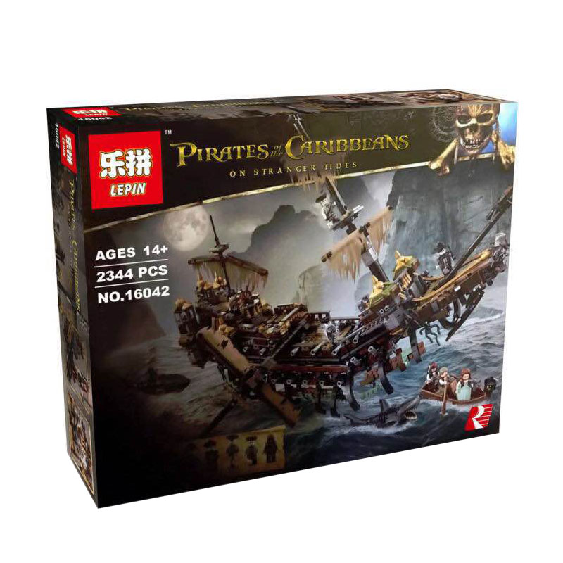 LEPIN Pirates of the Caribbean Silent Mary Ship ตัวต่อเรือไซเรนแมรี่
