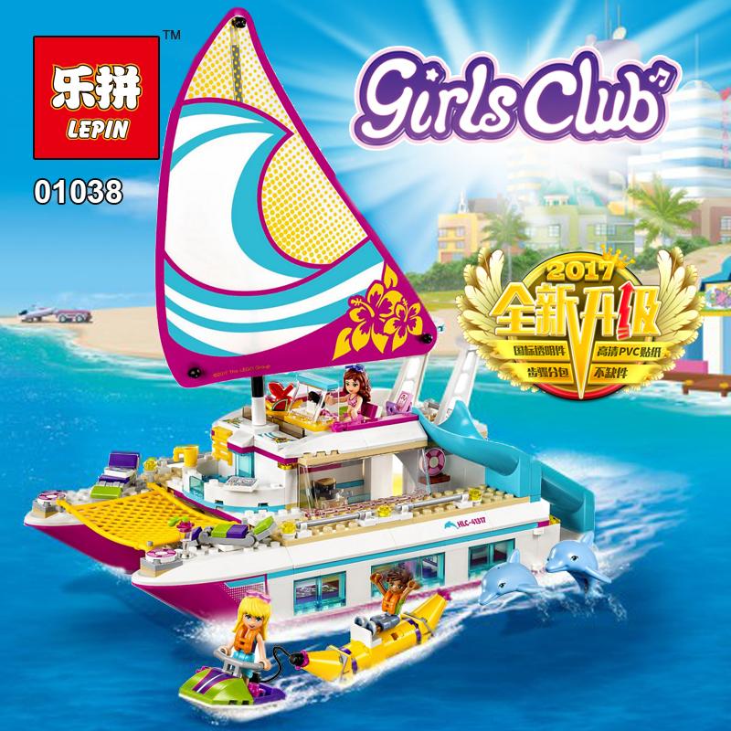 ตัวต่อเฟรนด์เรือยอร์ชสุดหรู LELE Friends Sunshine Catamaran