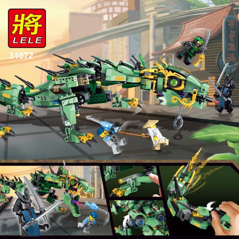 LEGO Ninjago Green Ninja Mech Dragon ตัวต่อนินจาโกมังกรยักษ์ ยาว60ซม