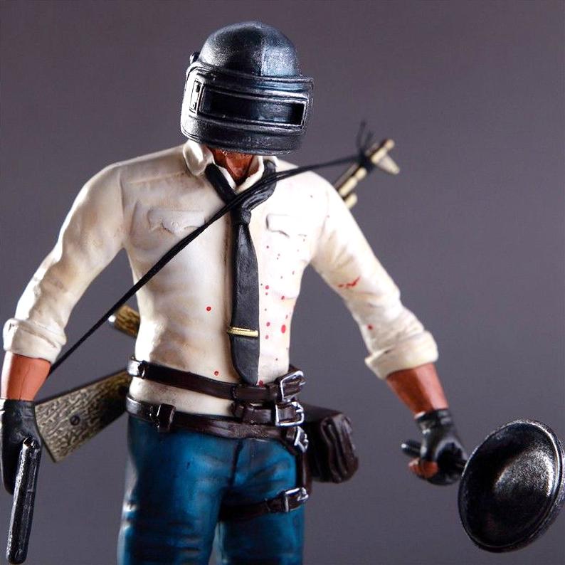 ฟิกเกอร์จากเกม PUBG Playerunknowns battlegrounds พร้อมอาวุธเหล็ก