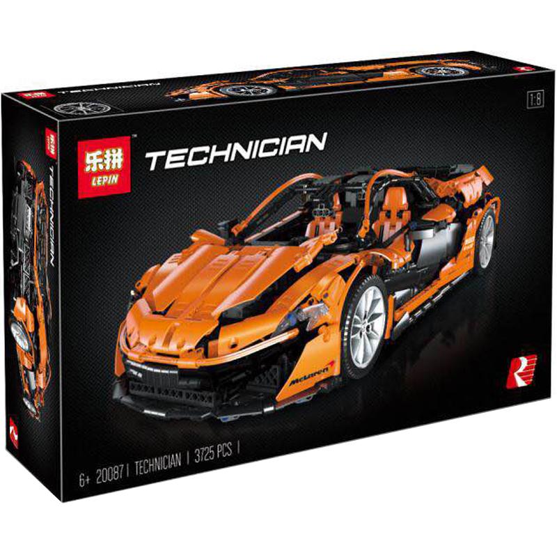 LEPIN Technic ตัวต่อรถซุปเปอร์คาร์แม็คลาเรน P1 McLaren P1 สีส้ม
