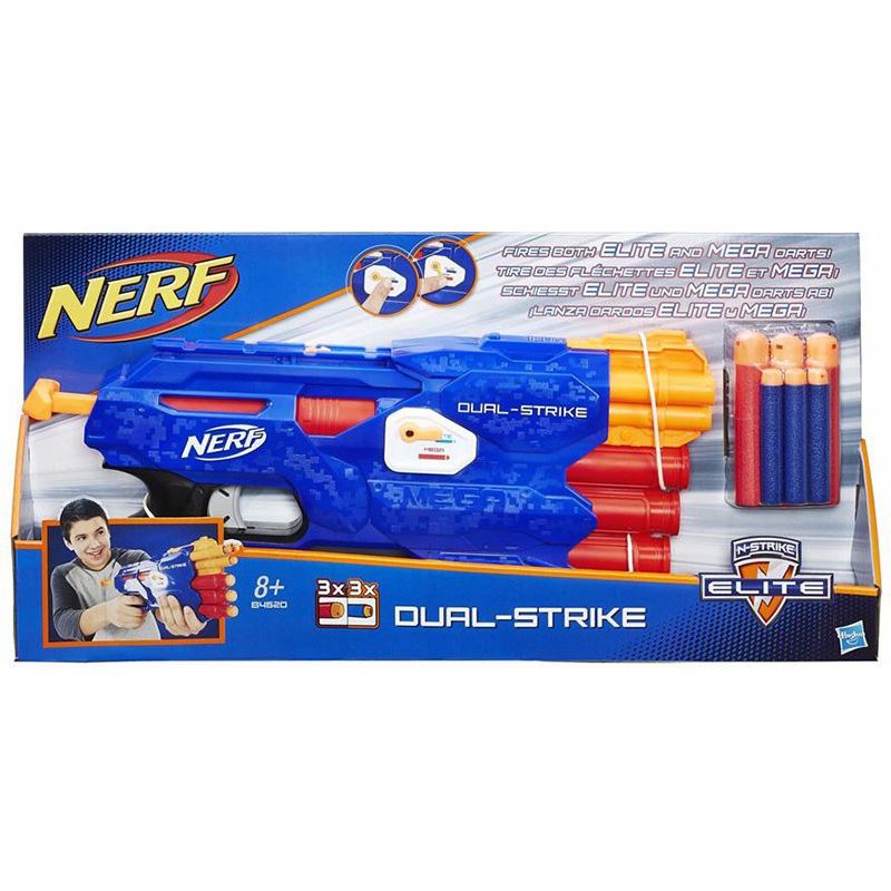 ปืน Nerf N-Strike Elite รุ่น Dual Strike กระสุน 2 แบบในกระบอกเดียว