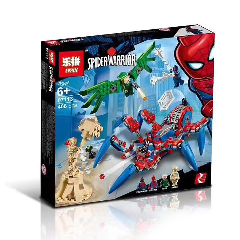 Lepin ตัวต่อยานแมงมุมสไปเดอร์แมน Spiderman VS Sandman