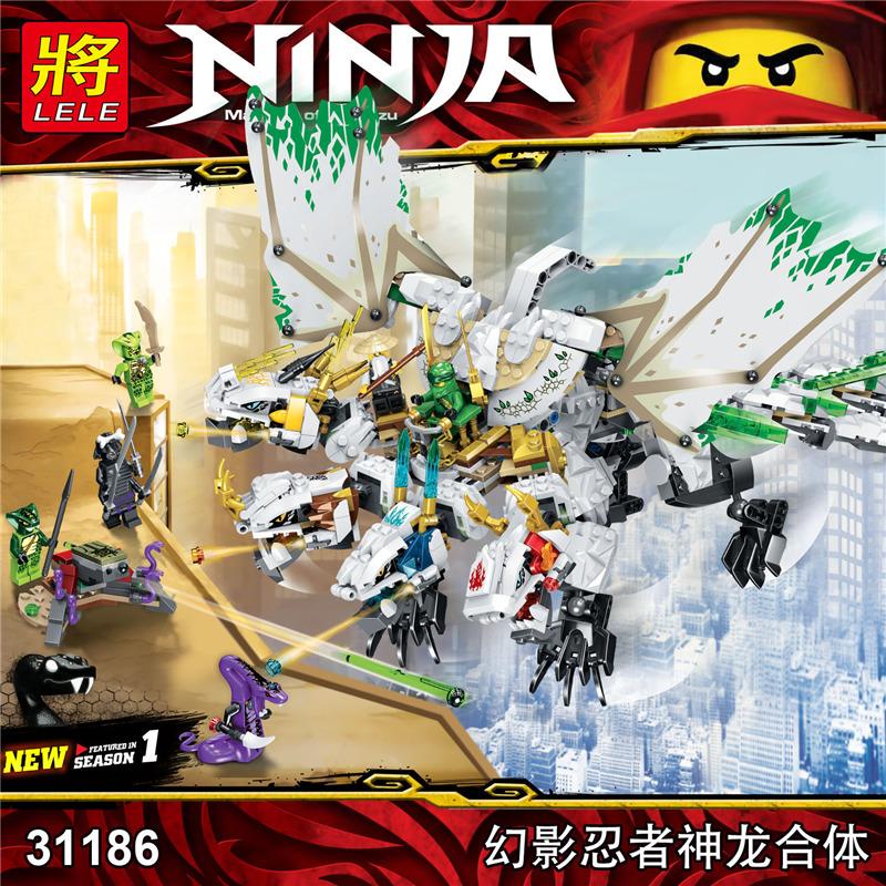 LELE SY ตัวต่อนินจาโกมังกร4ธาตุ Ninjago Legacy The Ultra Dragon