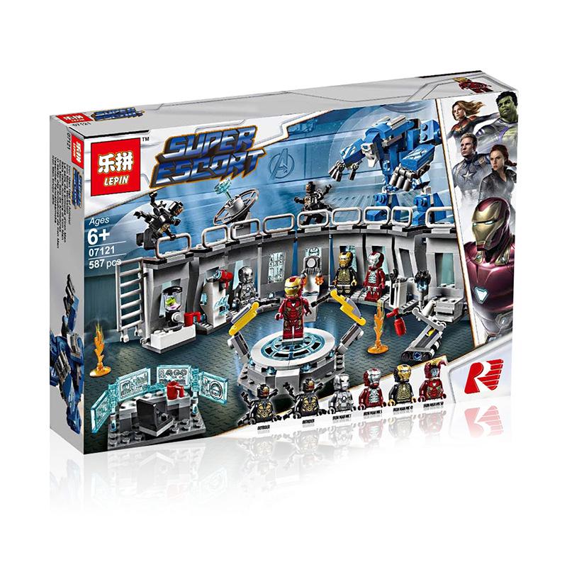 LEPIN ตัวต่อชุดฮีโร่ Avengers Endgame Iron Man Hall of Armor