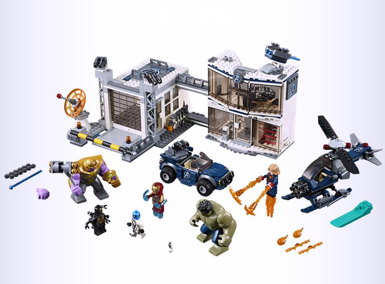 LEPIN ตัวต่อชุดฮีโร่อเวนเจอร์ Avengers Endgame Compound Battle