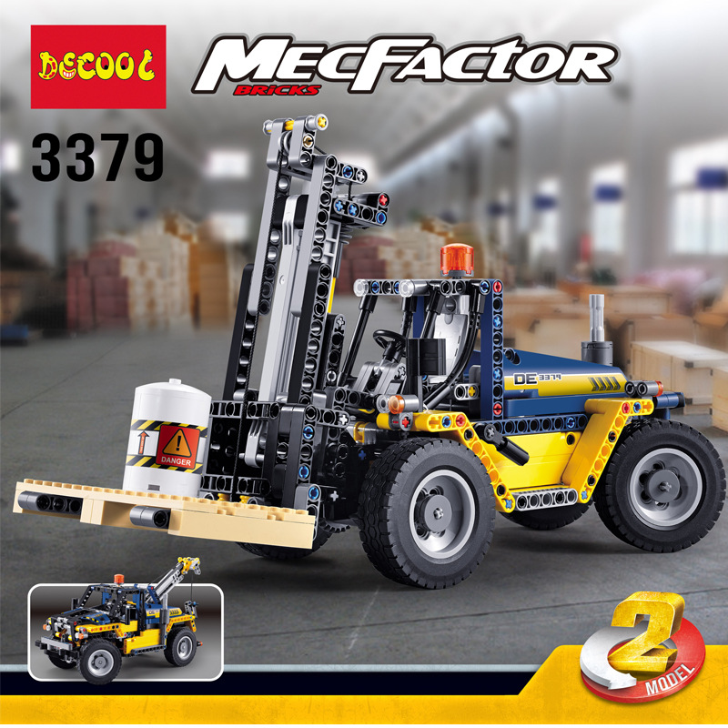 Decool Technic 2in1 ตัวต่อรถยกโฟล์คลิฟท์ Heavy Duty Forklift ต่อได้ 2 แบบ