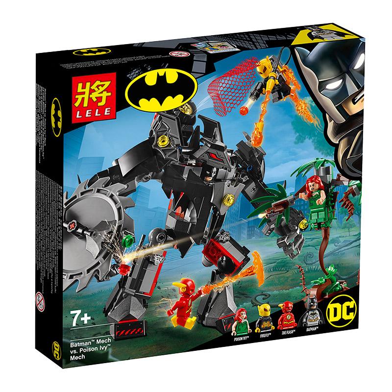 BELA LELE ตัวต่อชุดฮีโร่ Batman Mech vs Poison Ivy Mech
