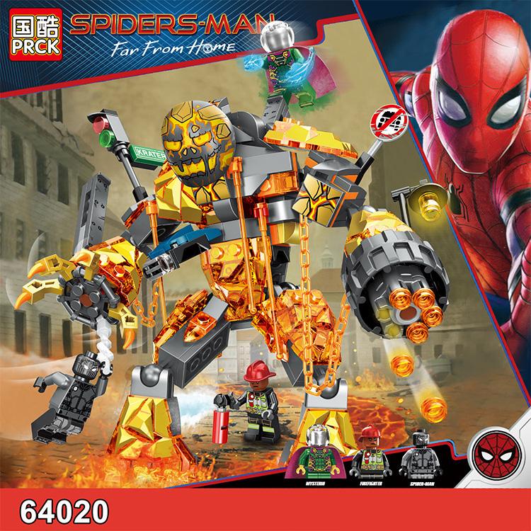 PRCK ตัวต่อชุดสไปเดอร์แมน Spider-Man Far From Home Molten Man Battle