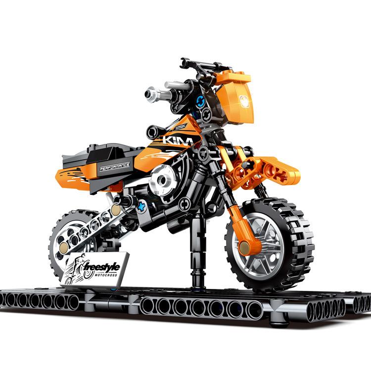 SY ตัวต่อรถมอเตอร์ไซค์วิบาก Motocross Motorcycle